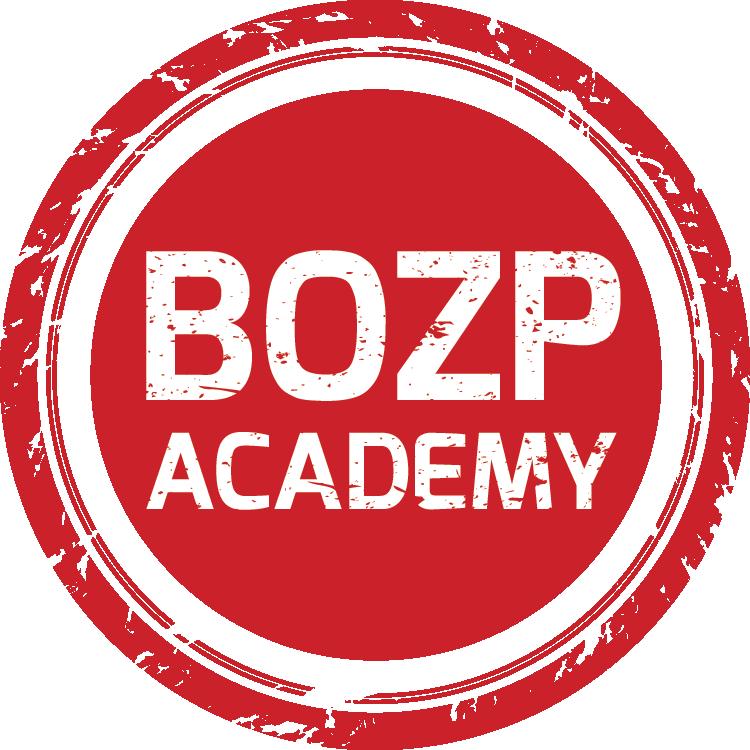 BOZP academy - kurzy a školenia - červené logo